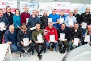 Electric Elves programme participants receiving their certificates at CIT