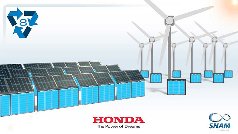 honda and snam EV battery recycling