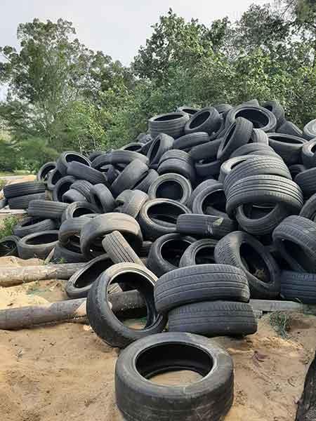 Scrap tyre wave breakers and turtle saviours p three