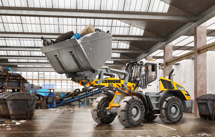 New brake assistant for Liebherr wheel loaders reduces stopping distance feat four-two