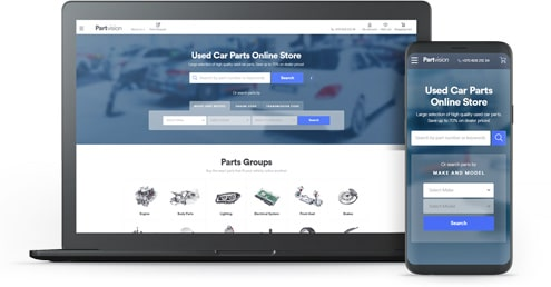 Partvision – e-commerce solution for the Used Auto Parts Industry feat one