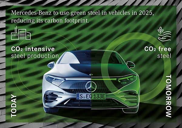 Mercedes-Benz to use green steel in vehicles in 2025 p