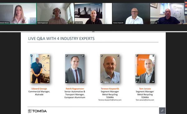 TOMRA Recycling explores the future of the global aluminium industry in latest webinar p two