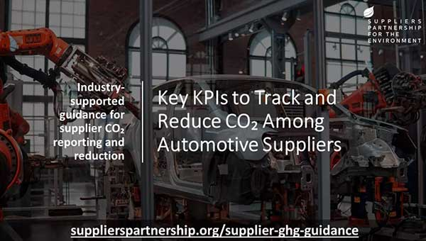 Automakers Collaborate on Common Guidance for Supplier Carbon Reporting and Reduction p