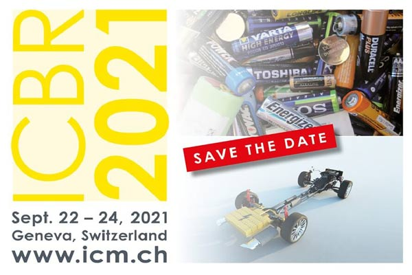 Head to Geneva for this year's International Congress for Battery Recycling (ICBR) p one