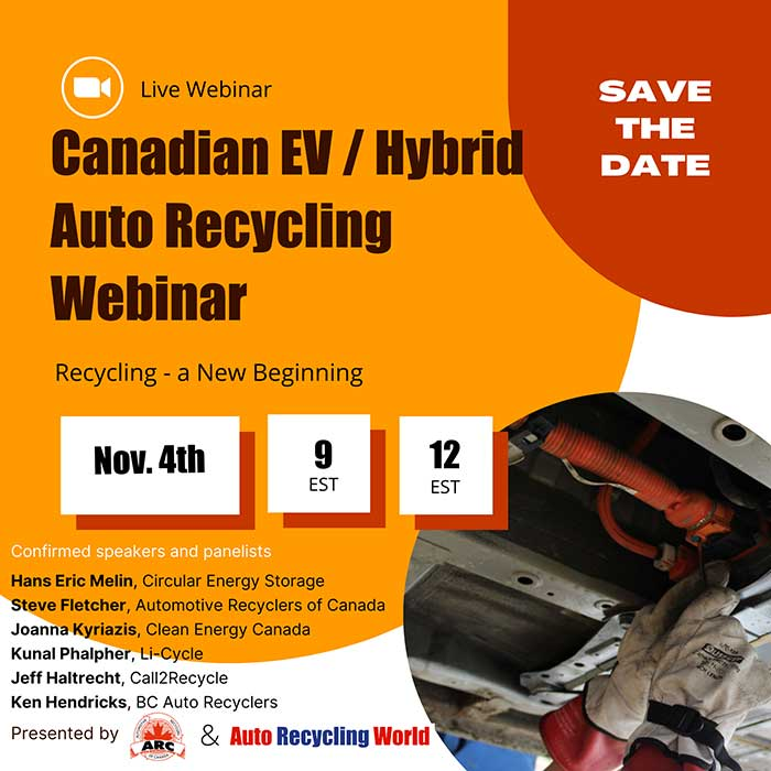 Save the date - EV recycling webinar launched p